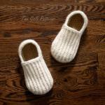 Crochet Pattern for Mens House Shoe..