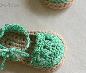 Crochet Pattern for Baby Espadrille Sandals - Crochet pattern 119