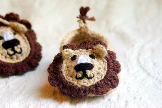 Free Crochet Pattern Baby Lion Booties : Baby Boy Lion House Slipper Crochet Pattern - PDF File ...