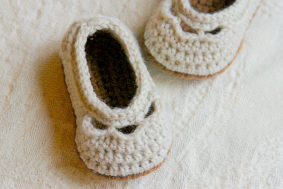 Crochet Baby Booties Pattern For Baby Yoke Ballet Slipper Pdf