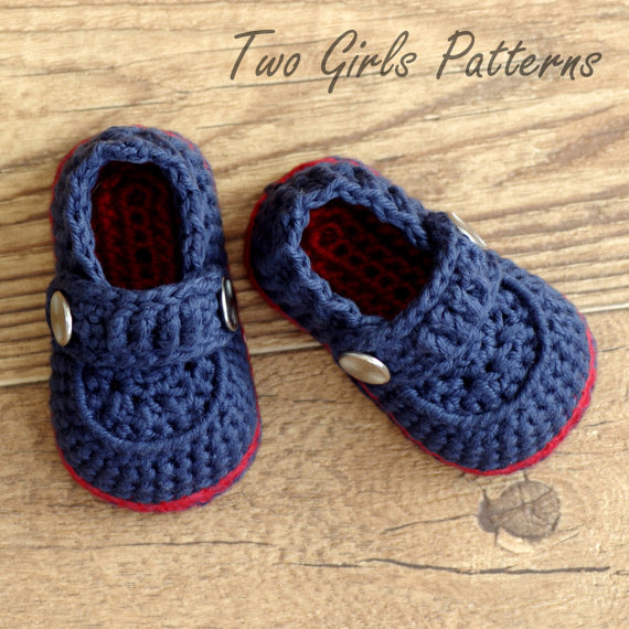 Free Crochet Patterns Baby Boy : Free Crochet Baby Boy Shoes Patterns