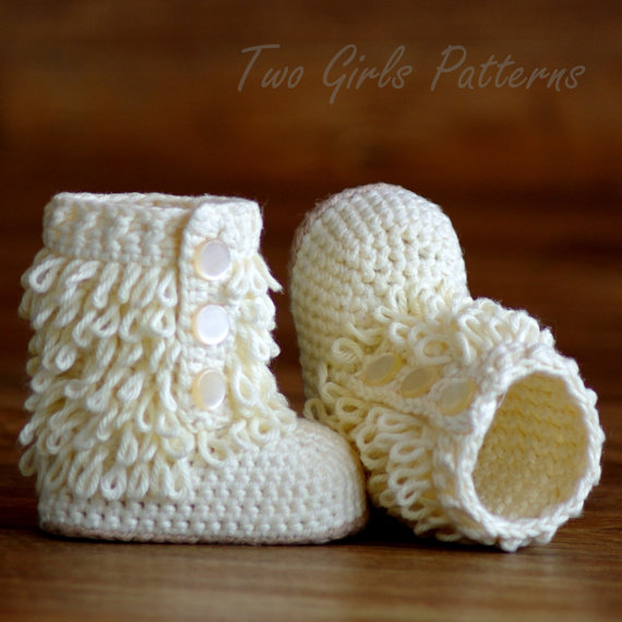 Crochet Baby Boot Pattern Furrylicious Booties Pattern Number 200