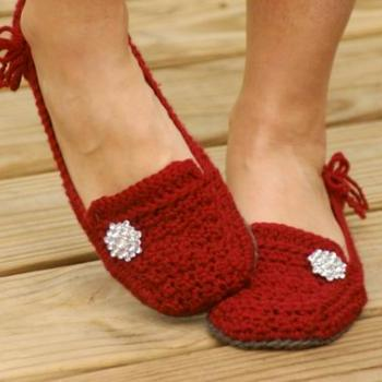 Crochet Womens Slides Patterns Scuffs House Shoes