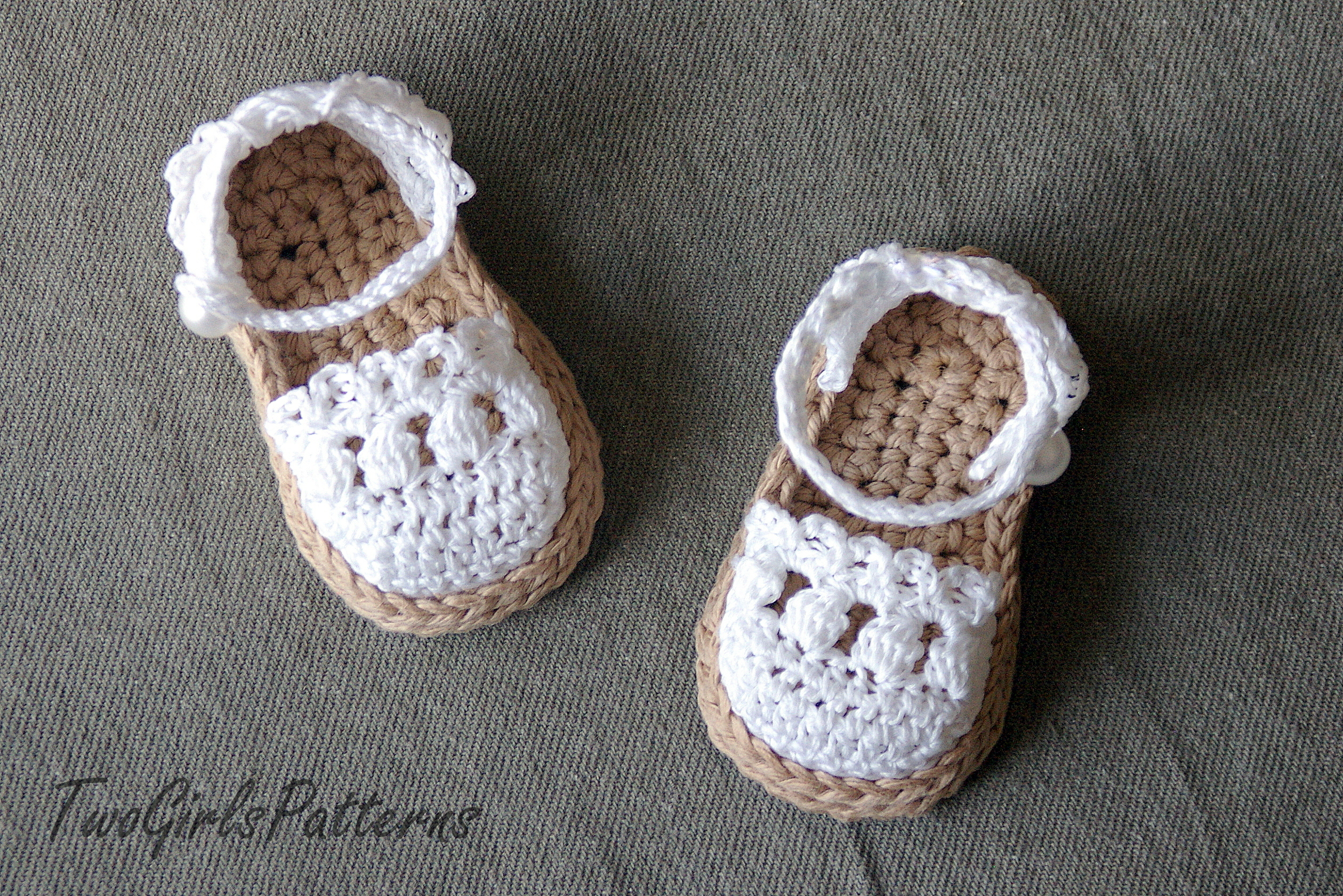 Crochet Patterns For Baby Shoes And Sandals : Crochet Pattern For Baby Espadrille Sandals - Crochet ...